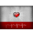 medical cardio heart grey red vector image