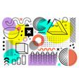 memphis style art vector image