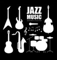 music instruments set jazz band collection with vector image