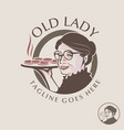 old lady theme logo set vector image vector image