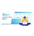 online store e-commerce website banner vector image