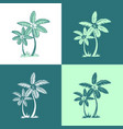 palm trees and leaves line silhouette isolated on vector image vector image