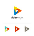 play icon video application icon design vector image vector image