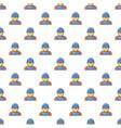 plumber man face pattern seamless vector image