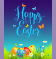 positive happy easter background vector image vector image