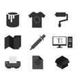 print icons set flat design vector image vector image
