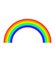 rainbow on white background light spectrum vector image