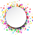 Round background with letters vector image vector image