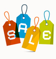 Sale Labels Isolated on White Background vector image vector image