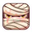 scary app icon with stylized mummy face vector image