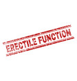 scratched textured erectile function stamp seal vector image