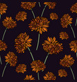 seamless floral pattern with calendula flowers vector image vector image