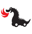 self-propelled fire-breathing dragon vector image