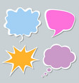 set colorful speech bubbles with shadow vector image