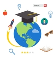 Set icons for education online education vector image vector image