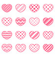 set love and heart icon vector image