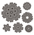 set of elements for design stylized flowers vector image vector image