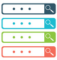 Set of search bars flat web design elements