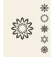 Snowflake Vintage vector image vector image