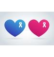 Stop cancer medical logo icon concept vector image