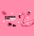 summer sale banner layout design vector image