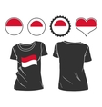 t-shirt with the flag of Monaco vector image vector image