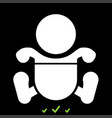 toddler boy with diapers it is white icon vector image vector image