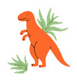 two tillandsia plants with a cute dinosaur pot vector image