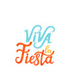 viva la fiesta hand drawn lettering isolated on vector image