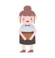 waitress woman with brochure cartoon character vector image vector image