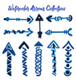 watercolor arrows collection vector image