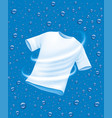 white shirt washing in water vector image
