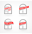 windows set emblem label your text element icons vector image vector image