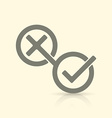 Yes and No symbols vector image vector image