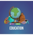 Cartoon Education Poster vector image