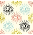 Abstract eyes seamless pattern vector image