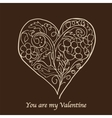stylish valentines day card vector image