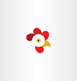 chicken or rooster head logo vector image