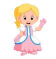kids girl princes cartoon vector image