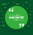 abstract concept empty speech square quote vector image vector image