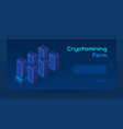 abstract cryptomining isometric concept banner vector image vector image