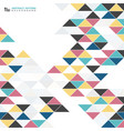 abstract modern colorful triangle pattern design vector image vector image