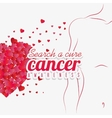 Against breast cancer campaign message vector image