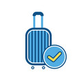 baggage luggage ok sign suitcase travel bag vector image vector image