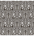 black and white abstract greek seamless pattern vector image