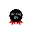 black friday sale sticker multicolored icon vector image vector image