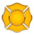 blank fire department logo base yellow and gold vector image vector image
