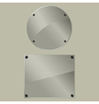 bolted glass plates vector image vector image