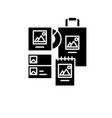 brand book black icon sign on isolated vector image vector image