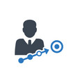 business success aim icon vector image vector image